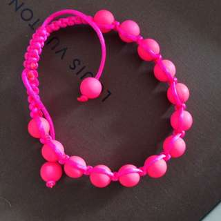 Fluro Pink Bracelet