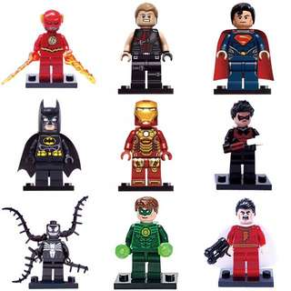 Lego 2017 9 Pcs Justice League Marvel DC