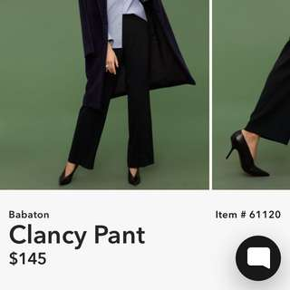 [PRICE REDUCED] aritzia babaton clancy pant