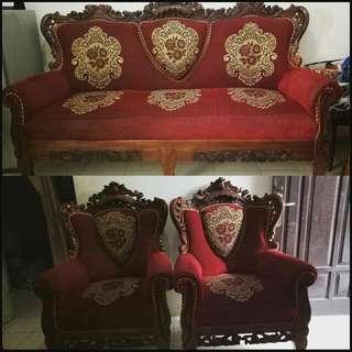 Sofa Kayu 1 Set