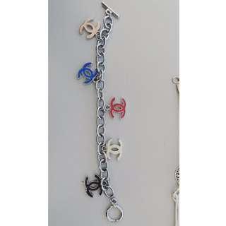 Chanel logo metal bracelet