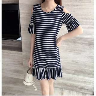 Brand new Korean summer style nursing dress for breastfeeding