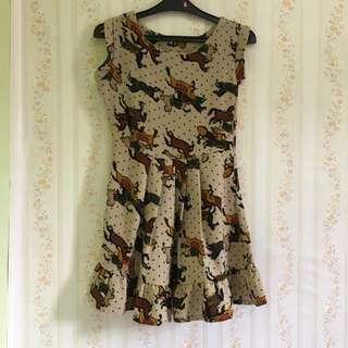 Mini Dress Korea brown