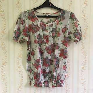 ST Yves flower blouse