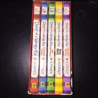 DIARY OF A WIMPYKID BOX OF BOOKS
