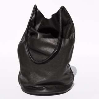 GENUINE LEATHER Barrel Tote Bag