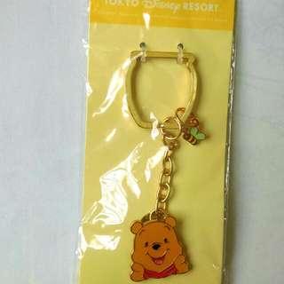 東京迪士尼購入 Winnie the Pooh小熊維尼鑰匙圈