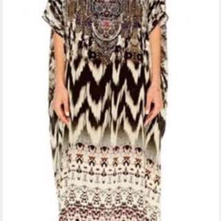 Camilla Wings Of The City Round Neck Kaftan