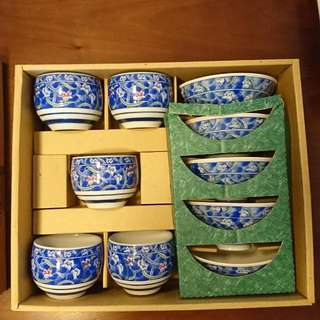 Japanese Cup And Bowl Set