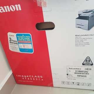 Canon Colour Laser All In One Image Class MF8080cw With Toner