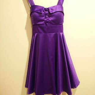 Purple Mini Sailor Dress