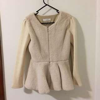 Warm Furry Beige Jacket