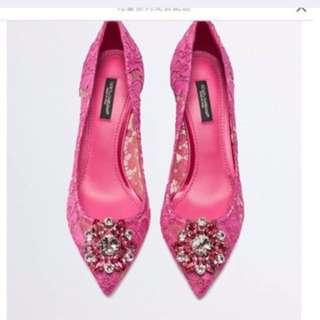 Dolce & Gabbana蕾絲高跟鞋