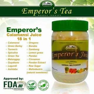 Emperors Juice Calamansi 18in 1 Herbal Therapy Safe For Adults&kids Good Source Of Vitamin C