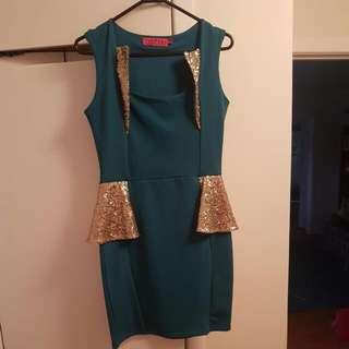 Green And Gold Dress