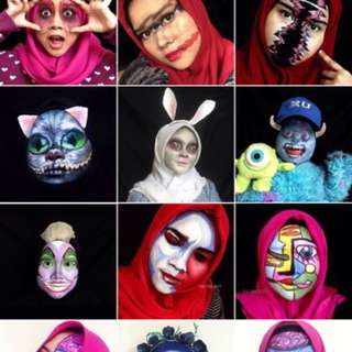 Jasa Mua Makeup Artist Surabaya Halloween Face Body Painting Murah Sfx Karakter Character Photoshoot Perform Teater Special Effects