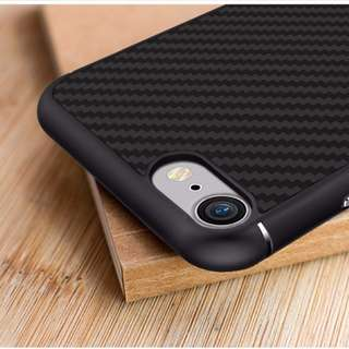 BN Nillkin iPhone 7 Carbon Fiber design case with Tempered Glass screen protector