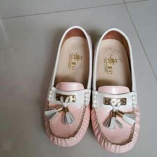 MIT台灣製羊皮珠光豆豆鞋