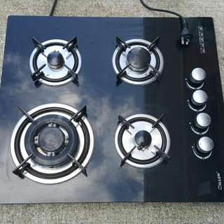 Gas Glass Hob