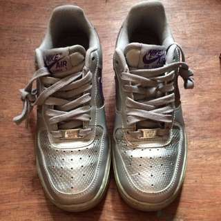 Authentic Nike Air Force 1 Grey Violet