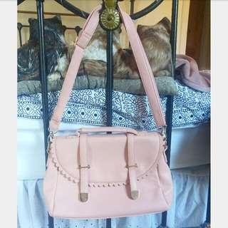 Miss Shop Pastel Pink Satchel Hand Bag