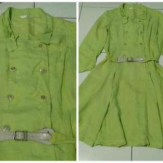 lime vintage dress
