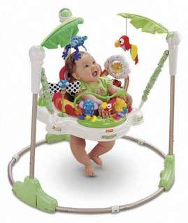 Fisher Price Rainforest Jumperoo / Baby Walker with FREE baby knee pads