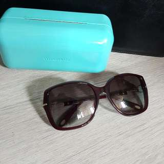 Tiffany & Co. Authentic Burgundy Heart Key Sunglasses 購物$500包順豐自取!
