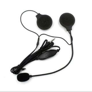 bike helmet velcro headphone set