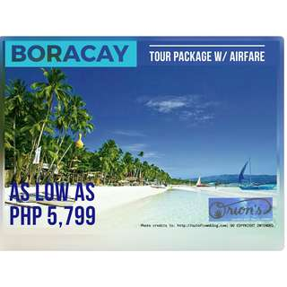 AFFORDABLE BORACAY TOUR PACKAGE WITH AIRFARE