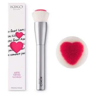 Kiko 愛心夾心面部刷 Matte For You Face Brush
