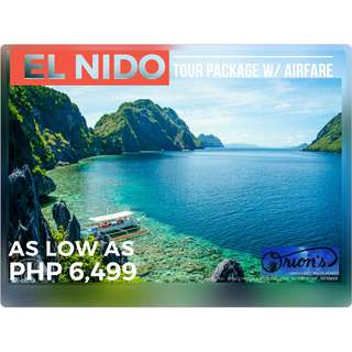 AFFORDABLE EL NIDO TOUR PACKAGE WITH AIRFARE