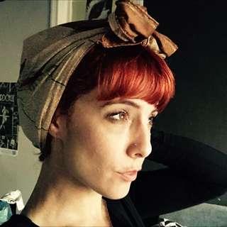 3 x vintage style head wraps