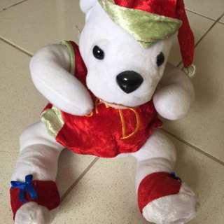 Boneka Beruang Untuk Natal 20x20 Cm