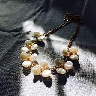 氣質花朵珍珠項鍊 #交換最划算