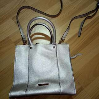 Lightly Used Authentic Rebecca Minkoff Bag In Silver