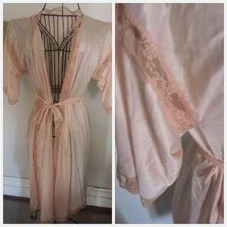Vintage peach boudoir gown