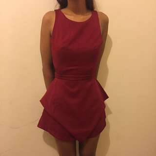Paperheart red playsuit