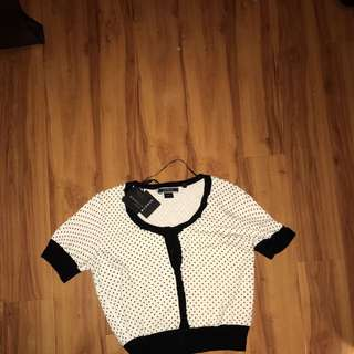Basque Petite Short Sleeve Cardigan