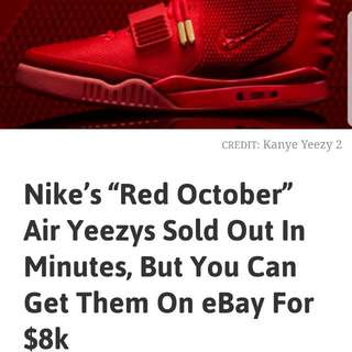 LIMITED EDITION NIKE YEEZY'S FROM KANYE WEST