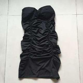 Strapless Black Bodycon