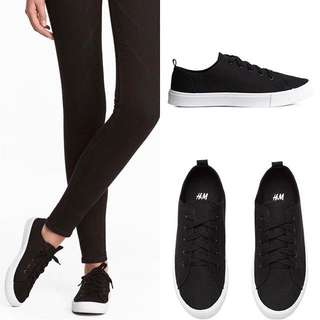 H&M black sneakers