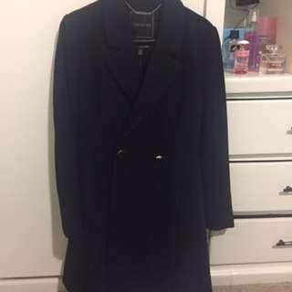 Forever New Black Hazeline Skirted Coat