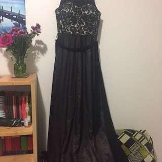 Long Lace-Bodice Formal dress