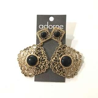 Brand New Adorne Gold Filigree Earrings