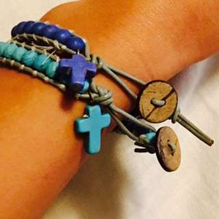 Light Blue & Dark Blue Bracelets
