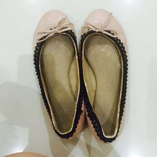 Karen And Chloe Pastel Pink Flat Shoes