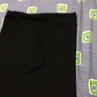 Long Black Cotton Skirt