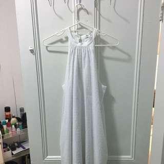 Miss Shop White Pattern Dress - Size 12
