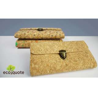 EcoQuote Clutch Sling Bang Hanmdmade Cork Material